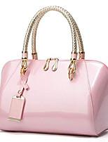 cheap -women's elegant evening bag patent leather handbag top handle hobo for party wedding purse crossbody bag pink