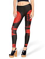 cheap -Women's Sporty Comfort Skinny Gym Yoga Leggings Pants Patterned Full Length High Waist Black Yellow Green