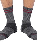 cheap -vital salveo- bamboo charcoal outdoor merino wool hiking socks, dark gray (crew)-large