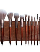 cheap -New 11 Mahogany Makeup Brush Set Powder Powder Brush Red Blush Brush Makeup Makeup Kit Set Back To Ancient Times
