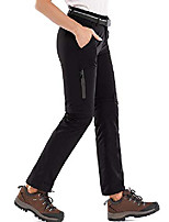 cheap -women's hiking pants quick dry stretch lightweight outdoor upf 40 fishing safari travel camping cargo pants #5818-black-24