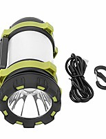 cheap -camping light waterproof led high power torch searchlight handheld floodlight for camping hiking cycling and emergency use(green)