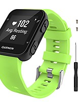 cheap -watch band compatible with garmin forerunner 35, soft silicone replacement watch band sport bracelet strap with 6pcs screws and 2pcs screwdrivers fit garmin forerunner 35 gps running, green