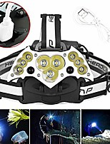 cheap -led headlamp bright t6 led usb rechargeable headlight head lamp camping hiking flashlight perfect for runners, lightweight, waterproof, adjustable headband