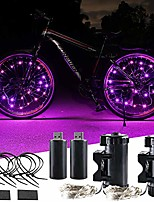 cheap -usb rechargeable bike wheel lights super bright bicycle led light bike spoke light for ultimate safety & style (2 tire,pink)