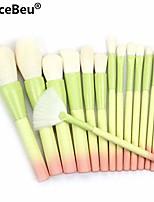 cheap -gradient color pro 14pcs makeup brushes set cosmetic powder foundation eyeshadow eyeliner