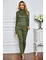 cheap -Women's Active Plain Daily Wear Two Piece Set T-shirt Pant Tops