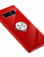 cheap -samsung galaxy note 8 case 360 metal rotating ring with kickstand holder magnetic car mount soft tpu case shockproof cover protection for samsung galaxy note 8 case (red)