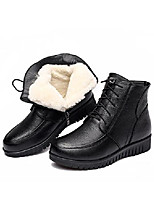 cheap -women's wool lined warm winter anti slip size zip anckle boot snow boots (us 8, black)