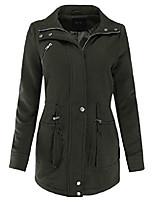 cheap -full front zipper fleece coat jacket olive 1xl size