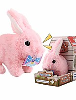 cheap -plush puppy rabbit, walking barking electronic interactive puppy plush animated pet rabbit toy for kids toddlers children boy girls