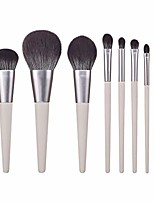 cheap -tonsee makeup brush, 8pcs cute foundation rabbit bluish micro-crystal silk cosmetic eyebrow eyeshadow brush