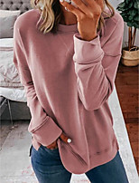 cheap -Women's Pullover Sweatshirt Solid Color Sports Going out Work Casual Hoodies Sweatshirts  Loose Blue Blushing Pink Gray