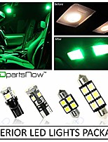 cheap -interior led lights replacement for 2017-2018 nissan titan truck accessories package kit (12 bulbs), green