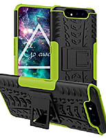 cheap -for galaxy a80 case, galaxy a90 case, double-layer hybrid shock resistant armor with kickstand protective case for samsung galaxy a80 / galaxy a90 (green)