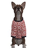 cheap -Dog Shirt / T-Shirt Geometic Casual / Sporty Fashion Christmas Casual / Daily Winter Dog Clothes Puppy Clothes Dog Outfits Breathable Red Costume for Girl and Boy Dog Polyster S M L XL