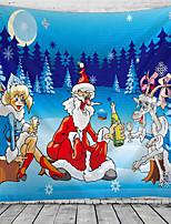 cheap -Christmas Santa Claus Holiday Party Wall Tapestry Art Decor Blanket Curtain Picnic Tablecloth Hanging Home Bedroom Living Room Dorm Decoration Christmas Tree Snowfield Cartoon Girl Santa