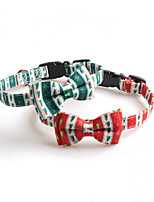 cheap -Dog Cat Collar Christmas Dog Collar Tie / Bow Tie Adjustable Flexible Outdoor Santa Claus Snowman Christmas Tree Nylon Golden Retriever Corgi Bulldog Bichon Frise Schnauzer Poodle Red Green 1pc