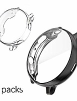 cheap -soft case compatible with samsung galaxy watch active 2 case with screen protector 40mm 2 packs electroplate tpu full cover bumper anti-scratch shockproof - clear and black