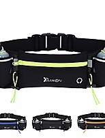 cheap -running belt with 2 water bottles, multifunctional zipper pocket adjustable strap water resistant waist bag fanny pack waist pack phone holder pouch for running hiking cycling climbing runners