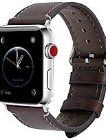 cheap -compatible apple watch band 40mm 38mm 42mm 44mm leather for iwatch se & series 6/5/4/3/2/1, 42mm 44mm coffee + silver buckle