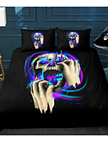 cheap -Skull Series Horrible Print 3-Piece Duvet Cover Set Hotel Bedding Sets Comforter Cover with Soft Lightweight Microfiber For Room Decoration(Include 1 Duvet Cover and 1or 2 Pillowcases)