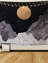 cheap -Wall Tapestry Art Decor Blanket Curtain Picnic Tablecloth Hanging Home Bedroom Living Room Dorm Decoration Polyester Mountain Moon Star Beauty Night View