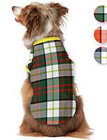 cheap -Dog Shirt / T-Shirt Plaid Daisy Cute British Casual / Daily Dog Clothes Puppy Clothes Dog Outfits Breathable Black Red Green Costume for Girl and Boy Dog Polyster S M L XL