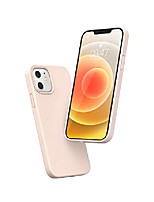 cheap -compatible with iphone 12/12 pro liquid silicone case soft edges shockproof and anti-drop protection case slim thin case 6.1 inch 2020 (pink)