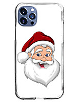 cheap -Santa Claus Case For Apple iPhone 12 iPhone 11 iPhone 12 Pro Max Unique Design Protective Case and Screen Protector Shockproof Back Cover TPU