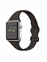 cheap -sport band compatible with apple watch 38mm 40mm 42mm 44mm, soft silicone slim thin narrow replacement strap compatible for iwatch se series 6/5/4/3/2/1 (cocoa, 38/40mm)