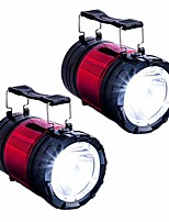 cheap -dual function led camping lantern, flash light super bright 30 led light weight extendable light, emergency lamp, (battery not included) (red 2 pack)