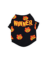 cheap -Dog Shirt / T-Shirt Bear Printed Fashion Cute Casual / Daily Winter Dog Clothes Puppy Clothes Dog Outfits Breathable Black Costume for Girl and Boy Dog Cotton XS S M L XL XXL