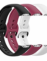 cheap -fit for samsung galaxy fit sm-r370 bands, adjustable soft silicone replacement watch band straps wrist bands bracelet fit samsung galaxy fit fitness smartwatch for women men (white red black)
