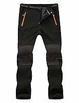 cheap -men couple waterproof windproof outdoor hiking warm winter thick pants trousers black