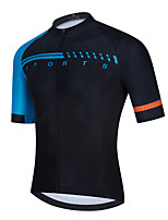 cheap -Men's Short Sleeve Cycling Jersey Black Bike Top Mountain Bike MTB Road Bike Cycling Breathable Quick Dry Sports Clothing Apparel / Stretchy / Athletic