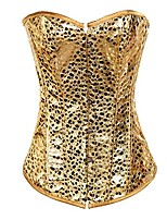 cheap -strapless gold fashion beaded overbust corset with g-string x-large