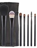 cheap -9pcs professional makeup brush set premium synthetic goat pony hair kabuki foundation blending brush face powder blush makeup brushes yjxhhx (color : black, size : free)