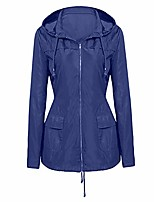 cheap -zsbayu unisex women's waterproof jacket outdoor quick dry raincoat windproof casual pocket zipper windbreaker with hood(dark blue,2xl)