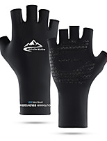 cheap -Bike Gloves / Cycling Gloves Anti-Slip Sunscreen Breathable Quick Dry Fingerless Gloves Sports Gloves White Black Grey for Adults' Outdoor Exercise Cycling / Bike