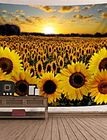 cheap -Wall Tapestry Art Decor Blanket Curtain Picnic Tablecloth Hanging Home Bedroom Living Room Dorm Decoration Polyester Gold Sunshine Sunflower Beauty Views