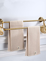 cheap -2 Layers Bathroom Towel Bar with 2 Hooks, Multifunction Antique Hardware Accessory Bar, Aluminum, 61.7cm, Wall Mounted