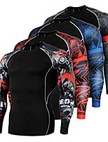 cheap -21Grams Men's Long Sleeve Cycling Jersey Winter Polyester Dark Grey Red Blue Bike Jersey Top Mountain Bike MTB Road Bike Cycling Quick Dry Sports Clothing Apparel / Stretchy / Athleisure