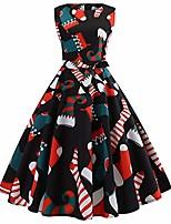 cheap -women christmas dresses festival socksprints sleeveless a-line midi flared tank pockets dress xmas gifts swing dress (black,x-large)