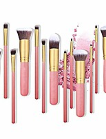 cheap -face 14pcs makeup brushes premium anjou makeup brush set cosmetics foundation blending blush eyeliner face powder brush llhyq brushes (color : pink, size : free)