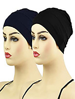 cheap -2 pack cotton sleep caps for women, cotton beanies for cancer patients, cotton bonnets night caps & hat head cover for sleeping