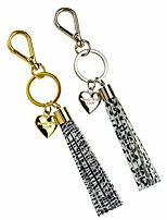 cheap -made with love heart tassel keychain for women for key handbag purse phone wallet unique gift, 2 pack