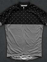 cheap -21Grams Men's Short Sleeve Cycling Jersey Polyester Black Stripes Bike Jersey Top Mountain Bike MTB Road Bike Cycling UV Resistant Breathable Quick Dry Sports Clothing Apparel / Stretchy / Race Fit