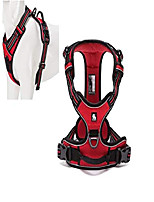 cheap -reflective nylon large pet dog harness 3m reflective vest with handle all weather dog service padded adjustable safety vehicular leads for dogs pet (xl, red)