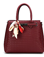 cheap -Women's Bags PU Leather Leather Satchel Top Handle Bag Buttons Handbags Daily Outdoor White Black Red Yellow